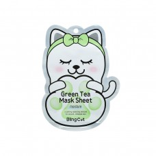 Bling Cat Green Tea Mask Sheet - Moisture